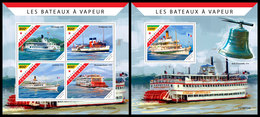 TOGO 2019 - Steam Boats, M/S + S/S. Official Issue [TG190524] - Bateaux