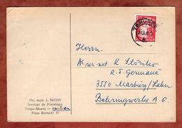 Karte, Kernreaktor, Tirgu-Mures Nach Marburg 1965 (89354) - Briefe U. Dokumente