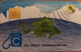 ANTILLES NEERLANDAISES - TEL-EM N.V. - Globe  -  First Issue  - 60 Units - Antillas (Nerlandesas)
