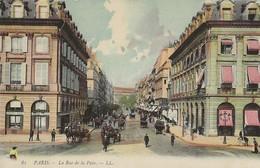 PARIS Rue De La PaiX  Belle Epoque 1905/14 Colorée - Other
