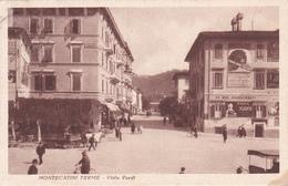 MONTECATINI TERME - PISTOIA - VIALE VERDI - PUBBLICITA' BIRRA PASZKOWSKI - FERRO CHINA BISLERI - ACQUA NOCERA UMBRA-1929 - Pistoia
