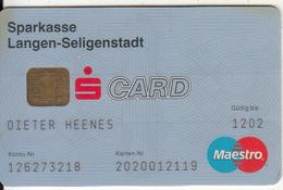 GERMANY - Sparkasse Langen-Seligenstadt Bank(reverse DSV), Maestro Card, 10/98, Used - Tarjetas De Crédito (caducidad Min 10 Años)