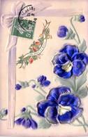 CPA Fantaisie Gaufrée - Fleurs - Fleurs