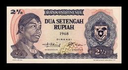 Indonesia 2 1/2 Rupiah 1968 Pick 103 SC UNC - Indonesia