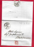PREFILATELICA PONTIFICIO - 1834 Lettera Con Testo Da VETRALLA A MONTEFIASCONE  - Timbri Postali VITERBO VETRALLA Sigillo - Italia