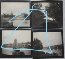 Photox4 BAASRODE Dendermonde Schelde Scheep Circa 1900 - Places