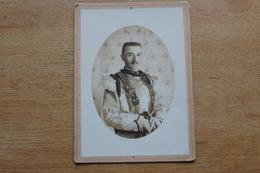 Cabinet Photographie Militaire  Cavalerie Militaire Avec Cuirasse Avec Aigle Impérial - War, Military