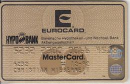 GERMANY - HYPO Bank(reverse ICA), Gold Eurocard/MasterCard, 03/89, Used - Tarjetas De Crédito (caducidad Min 10 Años)