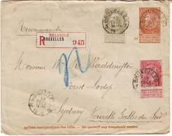 BELGIQUE Leopold II Obl Bruxelles Sur Lettre Pour L' AUSTRALIE Nouvelle Galles Du Sud DESTINATION TRES RARE !!!! - 1884-1891 Léopold II