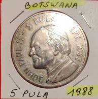 BOTSWANA  --  5 PULA 1988 - 2 SCANS - Botswana