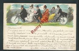 Une Noce En Tandem. Illustration De Faivre Jules Abel. Litho Rosenbaum - Circulé En 1899.  RARE! 2 Scans. - Illustrators & Photographers