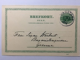 SWEDEN 1914 Pre-paid Postcard Vadstena To Gränna Fem Ore Rate - Sweden