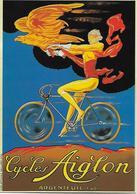 """CP  - Publicité - Vélo -  Cycles """"AIGLON"""" -  Argenteuil. - Pubblicitari"""