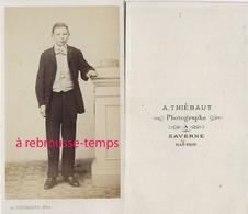 CDV Mode Second Empire-jeune Homme élégant-photo Thiébaut à Saverne - Anciennes (Av. 1900)