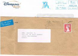 Angleterre (Canterbury) & France (Meaux Paris-disneyland) Flamme (OMEC) Et EMA Walt Disney   522 - Disney