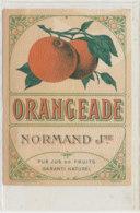 AN 782  / ETIQUETTE - ORANGEADE NORMAND J Ne - Fruits Et Légumes