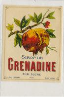 AN 789  / ETIQUETTE - SIROP DE GRENADINE  PUR SUCRE   N° 358 - Fruits Et Légumes
