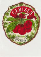 AN 793  / ETIQUETTE  - CERISES  1er CHOIX     N° 335 - Fruits Et Légumes