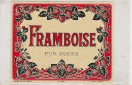 AN 795  / ETIQUETTE  - FRAMBOISE PUR SUCRE     N° 664 - Fruits Et Légumes