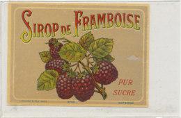 AN 796  / ETIQUETTE   SIROP DE - FRAMBOISE     N° 407 - Fruits Et Légumes