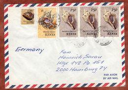 Luftpost, Muscheln, Dar Es Salaam Nach Hamburg 1984 (89359) - Kenia (1963-...)