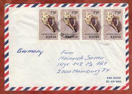 Luftpost, Muscheln, Dar Es Salaam Nach Hamburg 1984 (89360) - Kenia (1963-...)