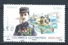 FRANCIA 2017 (O) USADOS MI-6818 YT-PA81 GEORGES GUYNEMER (CACHET ROND) - 1960-.... Oblitérés