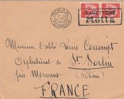 LETTRE ITALIE. 1950. PANETTONE MOTTA. ROMA POUR LA FRANCE - 6. 1946-.. Repubblica