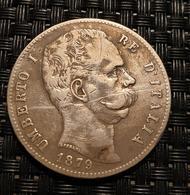 Italy 5 Lira 1879 - 1861-1946 : Kingdom