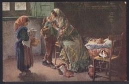 VIEILLE CPA ARTISTE - TABLEAU - PEINTURE - ART ** VDOVA - LA VEUVE ** M.J.S. 111 - Witwe - Widow - Pittura & Quadri