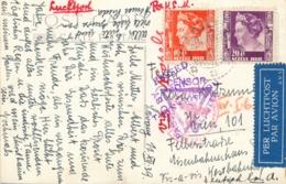 Nederlands Indië - 1939 - 10 & 20c Wilhelmina Op Multi Censored Ansicht Van LB Sidoardjo Naar Wien - Malang Gemeentehuis - Nederlands-Indië