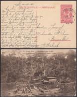 Congo Belge 1934 - Entier Postal 1 Fr En Carte Postale Nr. 35 - Vue:  Mines D'or-Dragage Rivière.....(DD) DC6137 - Interi Postali