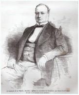 GRAVURE D Epoque    1865...02 - BRAISNE -  Marquis De La Valette - Vecchi Documenti