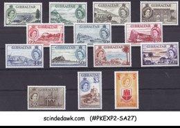 GIBRALTAR - 1953 QEII DEFINITIVES SCOTT#132-145 - 14V - MINT NH - Gibilterra