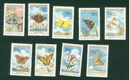 Czechoslovakia 1961 Butterfly Michel 1301 - 1309 - Neufs