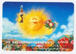 1997 -1998  RUSSIA  Russie Drink Coca Cola  Advertising -  Sun Is Shining - Calendarios