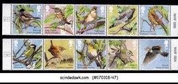 GREAT BRITAIN - 2017 SONGBIRDS / BIRDS - 10V - MINT NH - 1952-.... (Elizabeth II)