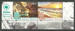 POLAND MNH ** 4601-4602 Tourisme Mines De Sel De Wieliczka Vacances Plage Sea Mine Tourisme Tourism - 1944-.... Republik