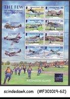 ASCENSION ISLAND - 2010 THE FEW THE BATTLE OF BRITAIN / AVIATION MIN/SHT MNH - Ascensione