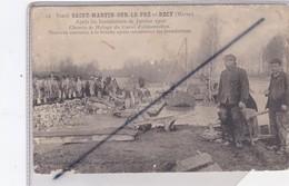 Saint Martin Sur Le Pré Et Recy (51) Après Les Inondations De Janvier 1910-Travaux Exécutés à La Brèche... - France