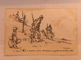 N°0195 – ILLUSTRATEUR POULBOT. COURS DIRE A MAMAN QU'ON EST PRISONIER DE GUERRE AVEC LA BOITE AU LAIT COLLECTION TERNOIS - War 1914-18