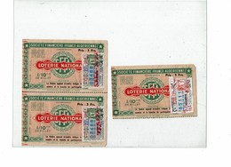 LCTN59/ALS 2 BB - 3 BILLETS DE LOTERIE STE FINANCIERE FRANCO ALGERIENNE - Billets De Loterie