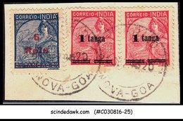 PORTUGESE INDIA - 1941-46 SCOTT#454 & 463 On ENVELOPE CUT-OUT - USED - India Portoghese