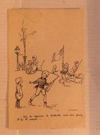 N°0198 – ILLUSTRATEUR POULBOT. TOI TU REGARDE LA BATAILLE SANS RIEN FAIRE, T'ES LE PAPE. COLLECTION TERNOIS N°5. - War 1914-18