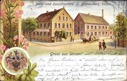 Blason Artiste Cp Uelzen In Niedersachsen, Buch- Und Kunstdruckerei L. Mundschenk - Allemagne