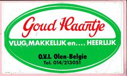 Sticker - Goud Haantje - Vlug,Makkelijk En....Heerlijk - O.L.I.  OLEN-Belgie - Stickers