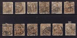 12 Stueck Germania, Entwertet (89372) - Gebraucht