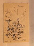 N°0201 – ILLUSTRATEUR POULBOT. LE CUISTOT. ATTENTION OUSQUE VOUS TAPEZ !... LA TERRE TOMBE DANS MA SOUPE. COLLECTION TER - War 1914-18