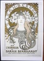 ALPHONSE MUCHA SARAH BERNHARDT EN PRINCESSE LOJNTAINE ANNONCE D'UN BANQUET EN SON HONNEUR GRD FORMAT - Mucha, Alphonse
