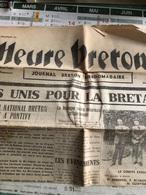 L'Heure Bretonne Du 14 Juillet 1940 - Giornali